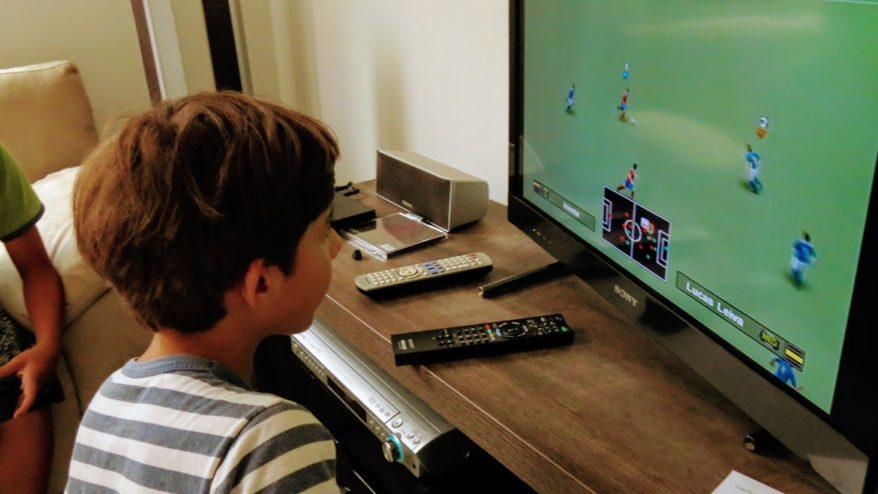 filhos e computador
