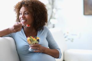 gravida comendo saudavel